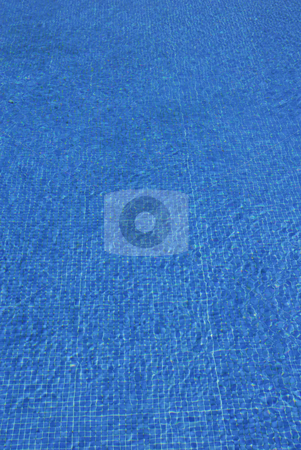 Blue stock photo, Swimming pool blue water detail with textures by Rui Vale de Sousa
