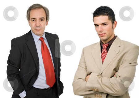 Team stock photo, Two business men portrait, isolated on white by Rui Vale de Sousa