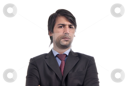 Mad stock photo, Young business men portrait isolated on white by Rui Vale de Sousa