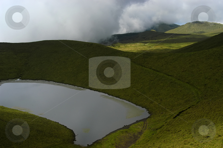 Lake stock photo, Azores small lake in the mountain of Pico by Rui Vale de Sousa
