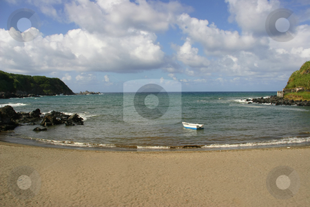 Boat stock photo, Boat in a azores beach by Rui Vale de Sousa