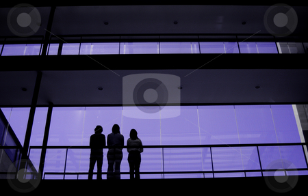 Purple stock photo, People standing on the buildings by Rui Vale de Sousa