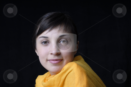 Woman stock photo, Portrait from a young and happy woman. by Rui Vale de Sousa