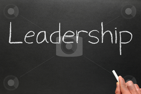 Writing leadership on a blackboard. stock photo, Writing leadership on a blackboard. by Stephen Rees