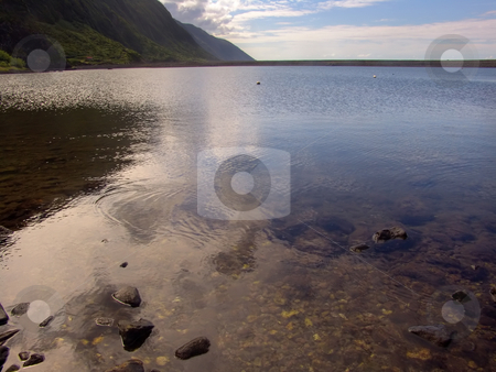 Calm stock photo, Azores coast water by Rui Vale de Sousa