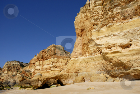 Cliff stock photo, Small beach at algarve in the south of portugal by Rui Vale de Sousa