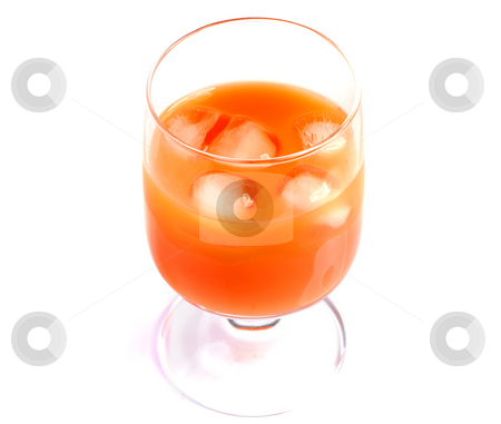 Juice stock photo, Glass of orange juice isolated on white background by Rui Vale de Sousa