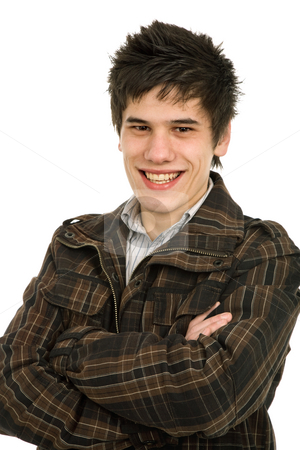 Happy stock photo, Studio picture of a happy young man by Rui Vale de Sousa