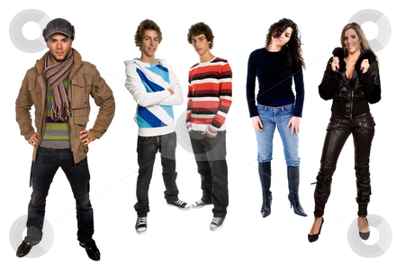 People stock photo, Young people in studio, isolated on white backgroung by Rui Vale de Sousa