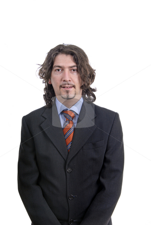 Standing stock photo, Young business man standing on white background by Rui Vale de Sousa