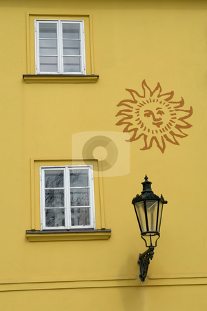 Details stock photo, Yellow architecture details in prague old town by Rui Vale de Sousa