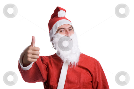 Santa claus stock photo, Happy santa claus isolated on white background by Rui Vale de Sousa