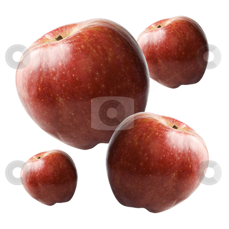 Apples stock photo, Apples isolated on white background by Ira J Lyles Jr