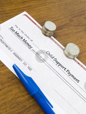 Child Support Payment Check stock photo, Child Support Payment Check too much money concept by John Teeter