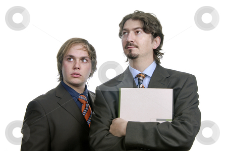 Workers stock photo, Two young business men portrait isolated on white by Rui Vale de Sousa
