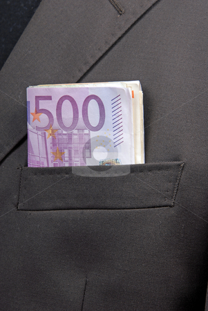 Money stock photo, Some bank notes in business man pocket by Rui Vale de Sousa