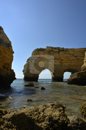 Caves stock photo, Portuguese Algarve beach, the south of the country by Rui Vale de Sousa
