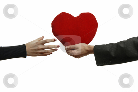 Offering stock photo, Man offering a heart to a woman, arms detail by Rui Vale de Sousa