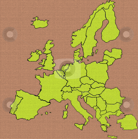 Europe stock photo, Map illustration by Rui Vale de Sousa