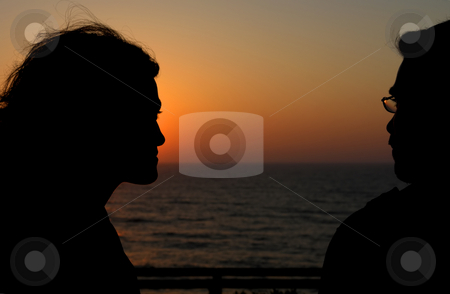 Couple stock photo, Couple at the sunset by Rui Vale de Sousa