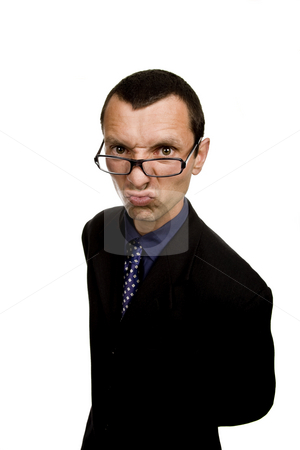Distorted stock photo, Young distorted business man isolatedo on white by Rui Vale de Sousa