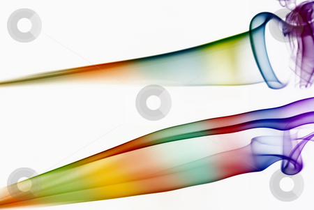 Rainbow stock photo, Abstract colored smoke in a white background by Rui Vale de Sousa