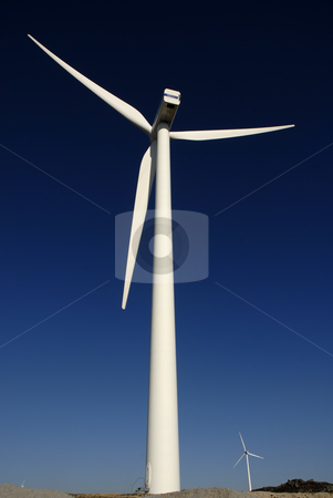 Turbines stock photo, Wind turbines farm in the top of the mountain by Rui Vale de Sousa