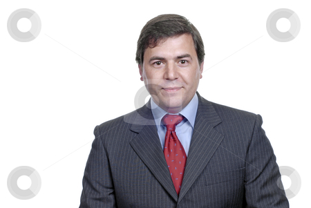 Smile stock photo, Young business men portrait isolated on white by Rui Vale de Sousa