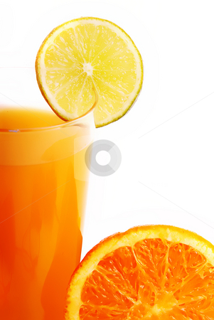 Juice stock photo, Orange Juice glass isolated on white background by Rui Vale de Sousa