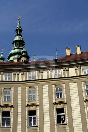 Building stock photo, Ancient prague building in the old town by Rui Vale de Sousa