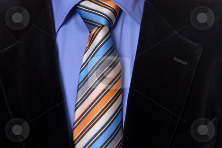 Detail stock photo, Detail of a Business man Suit with colored tie by Rui Vale de Sousa