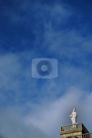 Statue stock photo, Christ statue and the sky by Rui Vale de Sousa