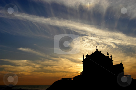Church stock photo, Church at sunset by Rui Vale de Sousa