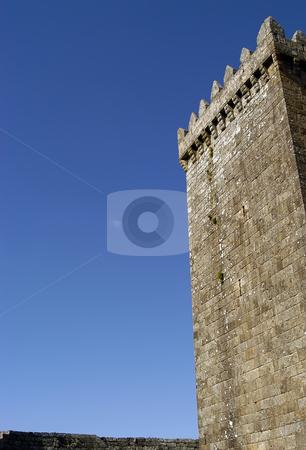 Castle stock photo, Ancient portuguese castle tower detail and the sky by Rui Vale de Sousa