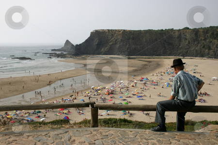 Vision stock photo, Old man and the beach by Rui Vale de Sousa
