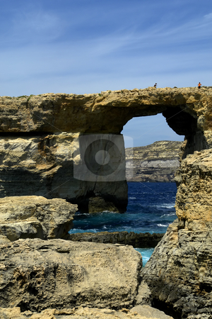 Dwejra stock photo, Dwejra landmark in the island of gozo, malta by Rui Vale de Sousa