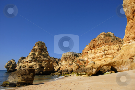 Beach stock photo, Portuguese Algarve beach, the south of the country by Rui Vale de Sousa