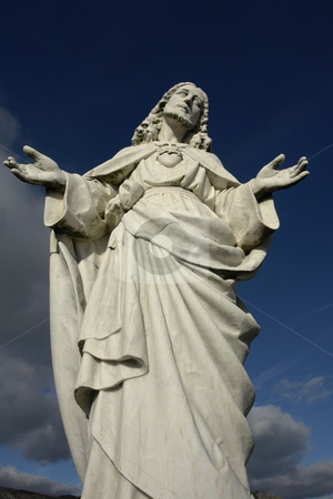 Statue stock photo, Christ statue by Rui Vale de Sousa
