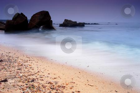 Beach stock photo, Rocks on the beach by Rui Vale de Sousa