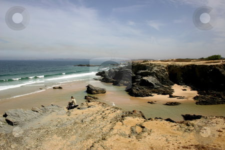 Coast stock photo, Man at the coast by Rui Vale de Sousa