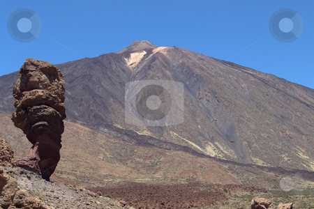 Mountain stock photo, Mountain of el teide in tenerife island by Rui Vale de Sousa