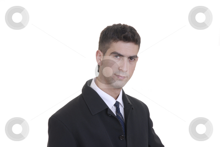 Alone stock photo, Young business man portrait in white background by Rui Vale de Sousa