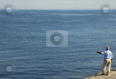 There stock photo, Man and the ocean by Rui Vale de Sousa