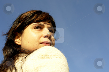Girl stock photo, Young woman close up portrait enjoying the sun by Rui Vale de Sousa