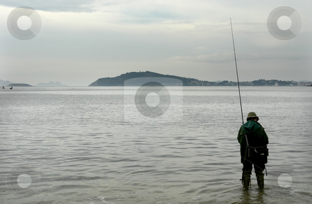 Fisherman stock photo, Fisherman at the sea by Rui Vale de Sousa