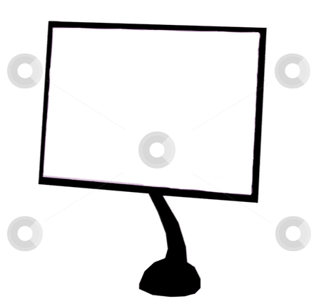 Monitor stock photo, Monitor of a computer illustration in a white background by Rui Vale de Sousa