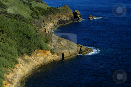 Coast stock photo, Land and ocean by Rui Vale de Sousa