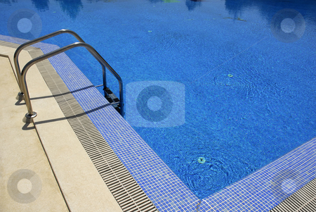 Pool stock photo, Swimming pool blue water detail in a summer day by Rui Vale de Sousa