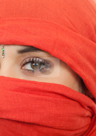 Woman stock photo, Young woman eye close up, studio picture by Rui Vale de Sousa