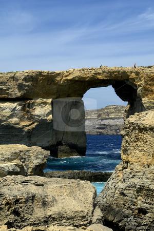 Dwejra stock photo, Dwejra landmark in the island of gozo, malta by Rui Vale de Sousa
